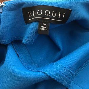 Eloquii Dresses - Kingfisher Blue knit pencil dress w/ v-back.